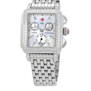 Deco Day Mother of Pearl Dial Diamond Ladies Watch